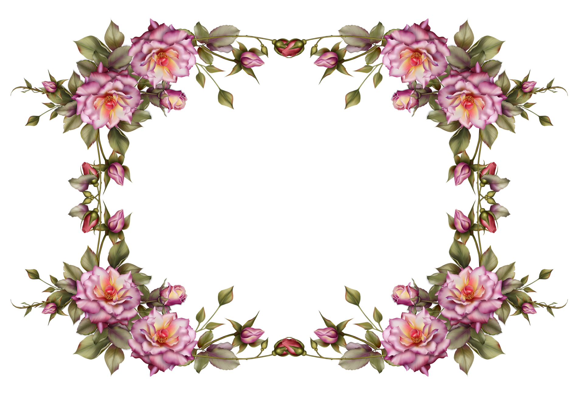 Vintage flower border clipart clip royalty free library flower_frame_by_collect_and_creat-d69ijjv.png (1904×1304) | Frames ... clip royalty free library