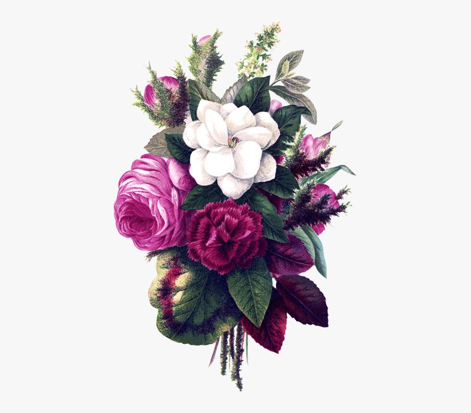 Vintage flower bouquet clipart clip freeuse Flower Bouquet Pink Flowers, Flower Clipart Pansies - Purple ... clip freeuse