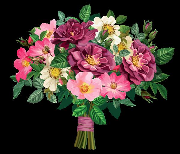 Vintage flower bouquet clipart svg royalty free stock Rose Bouquet Transparent Clipart   Ruze   Flower clipart ... svg royalty free stock