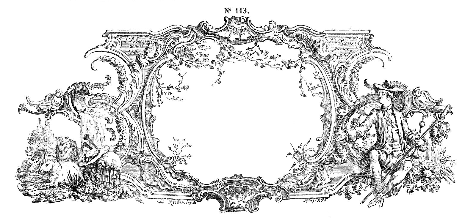 Vintage french clipart image Free Vintage Clip Art - Gorgeous French Frame Engraving ... image