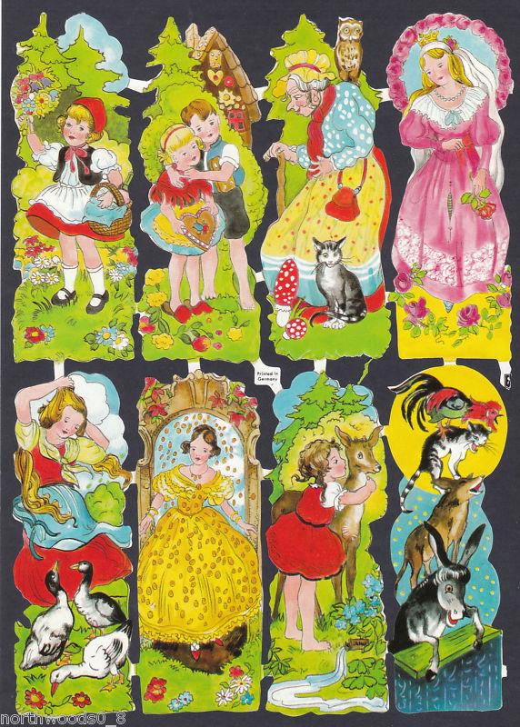 Vintage german nursery rhyme clipart clip art free library $5.25 - Vintage Fairytale Nursery Rhyme Scrap Paper German ... clip art free library