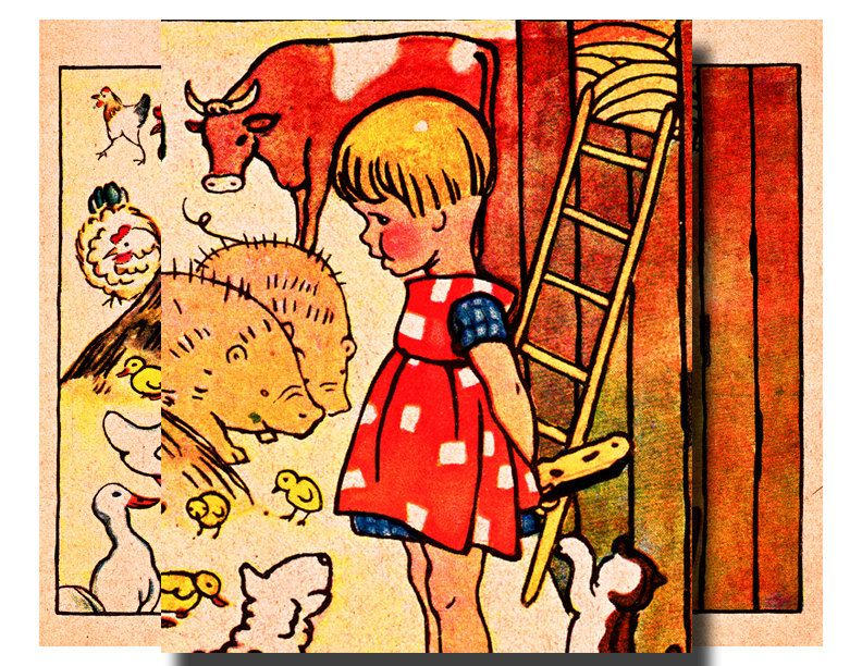 Vintage german nursery rhyme clipart graphic royalty free library vintage german childrens book illustration | German ... graphic royalty free library