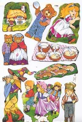 Vintage german nursery rhyme clipart clipart library 1794 - Nursery Rhymes Fairy Tales Goldilocks clipart library