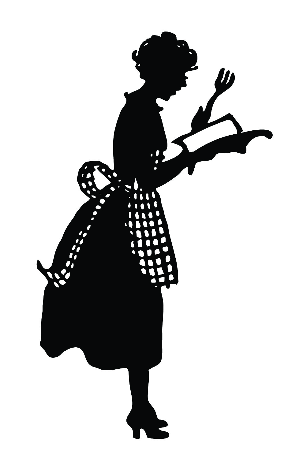 Vintige ladies silhouette clipart jpg free stock Vintage Silhouette - Cute Lady in Apron - The Graphics Fairy jpg free stock