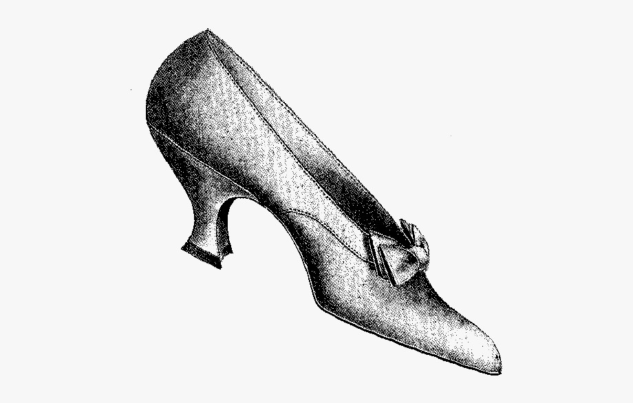 Vintage glass slipper clipart black and white banner royalty free download Shoe Fashion Women\'s Slipper Illustration - Vintage Shoe ... banner royalty free download
