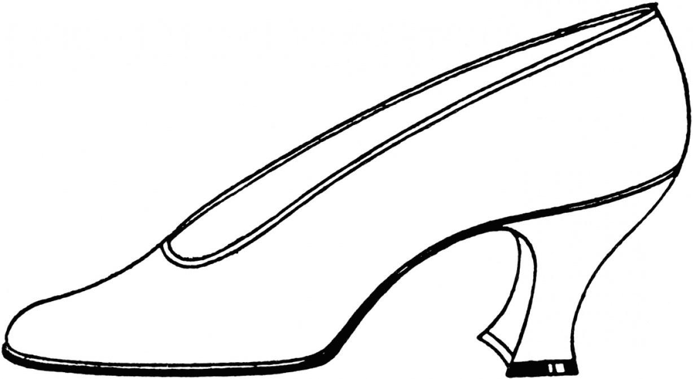 Vintage glass slipper clipart black and white clip Glass Slipper Drawing | Free download best Glass Slipper ... clip