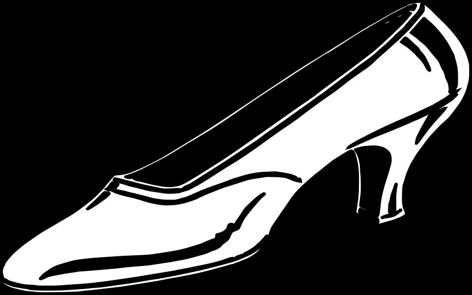 Vintage glass slipper clipart black and white jpg transparent download Glass Slipper Drawing | Free download best Glass Slipper ... jpg transparent download
