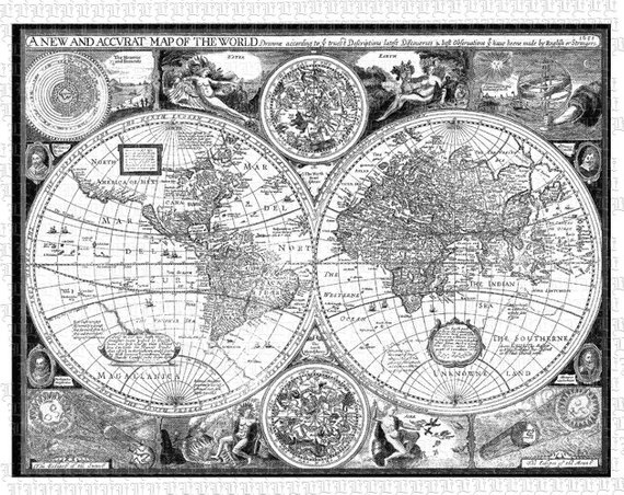 Vintage globe map black and white clipart vector transparent stock World Map Ancient Cartographic Illustrations Antique Vintage ... vector transparent stock