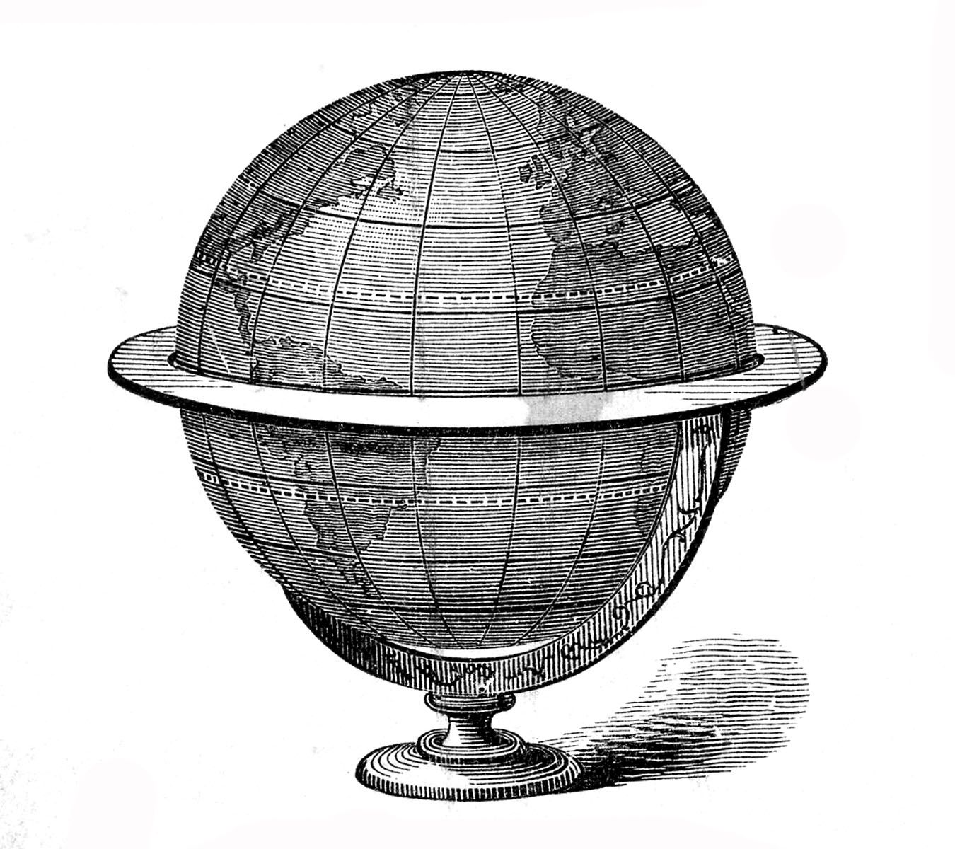 Vintage globe map black and white clipart clip royalty free library Thursday is Request Day - Map of Africa, Steampunk Globe ... clip royalty free library