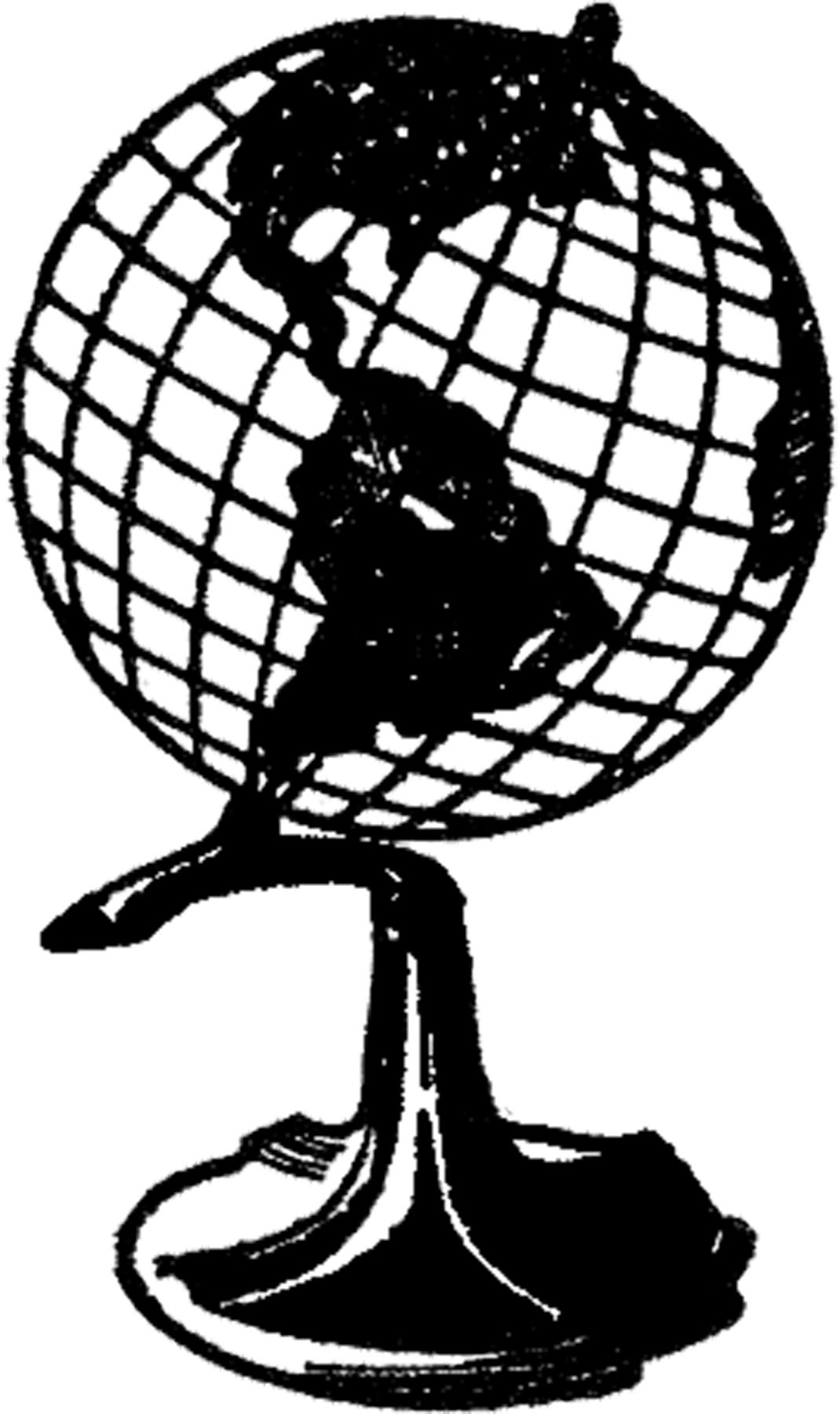 Vintage globe map black and white clipart image black and white download Retro Globe Image! | Sketches | Globe image, Graphics fairy ... image black and white download