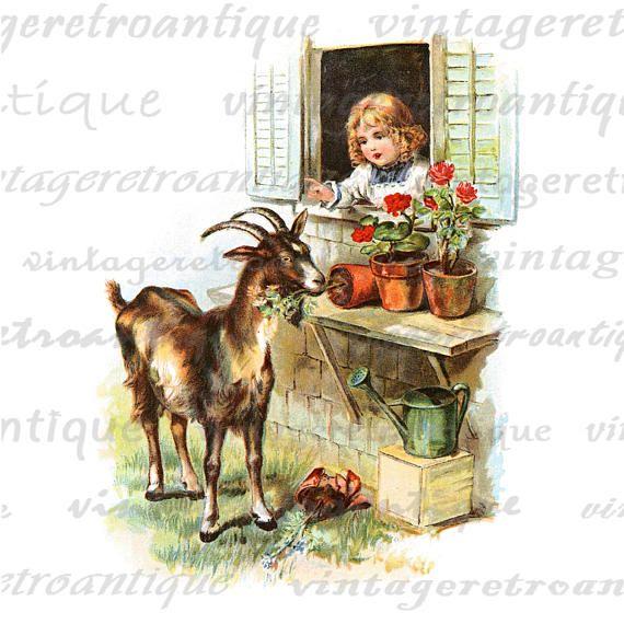 Vintage goat clipart graphic stock Vintage Goat Cliparts - Making-The-Web.com graphic stock