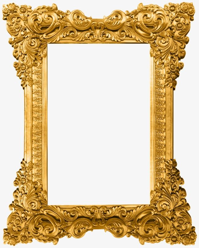 Vintage gold frame clipart graphic free download Gold Pattern Frame, Frame Clipart, Gold Frame, Frame Pattern ... graphic free download