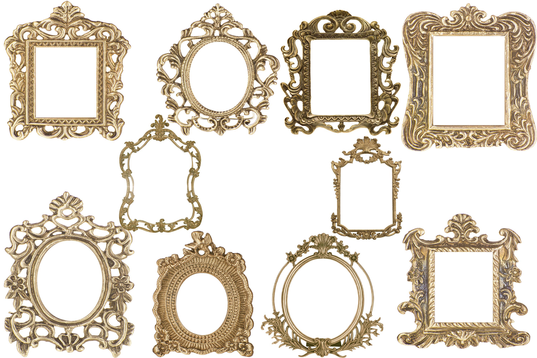 Vintage gold frame clipart jpg library stock Vintage Gold Frames jpg library stock