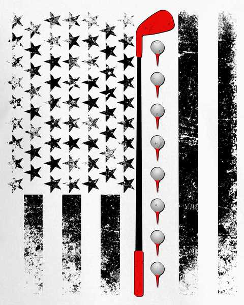 Vintage golf club clipart image black and white download Vintage Golfing American Flag Golf Club Sweatshirt image black and white download