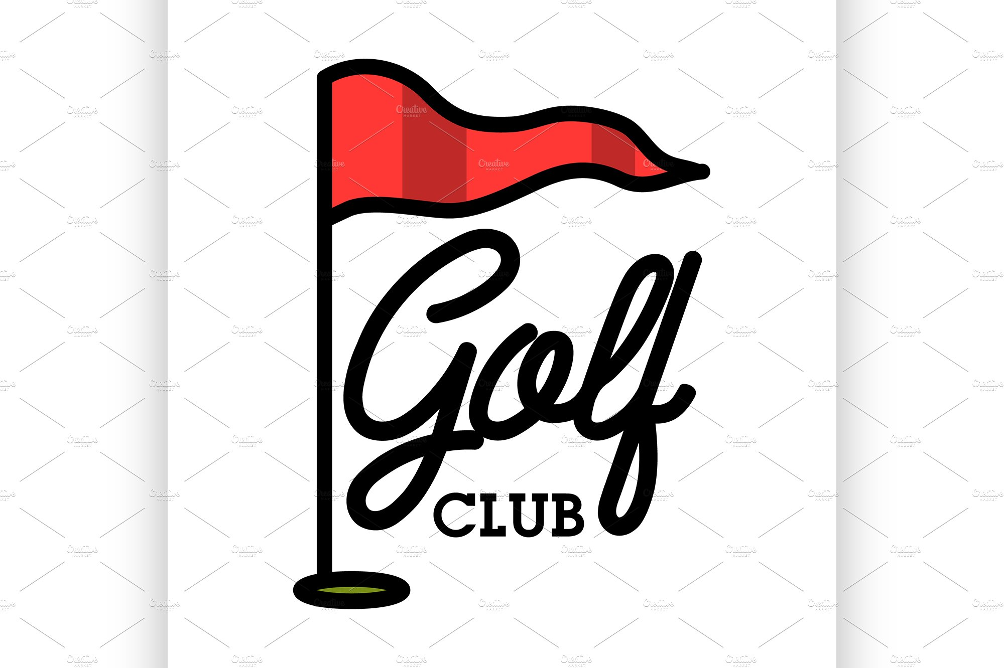 Vintage golf club clipart png freeuse Color vintage golf club emblem png freeuse
