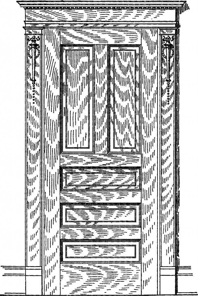 Vintage gray door clipart graphic transparent stock Vintage Oak Door Image! - The Graphics Fairy | EPHEMERA ... graphic transparent stock