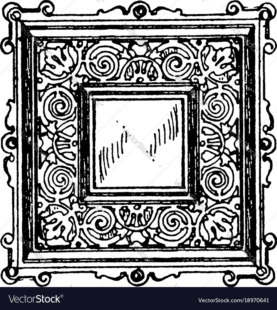Vintage gray door clipart picture freeuse library Door-panel frame was a square vintage engraving picture freeuse library