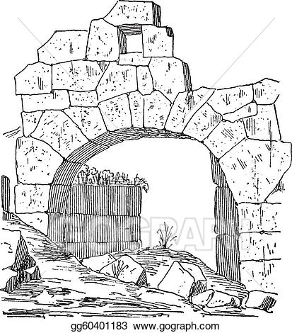 Vintage gray door clipart svg freeuse stock Vector Clipart - Construction of a fortification door made ... svg freeuse stock