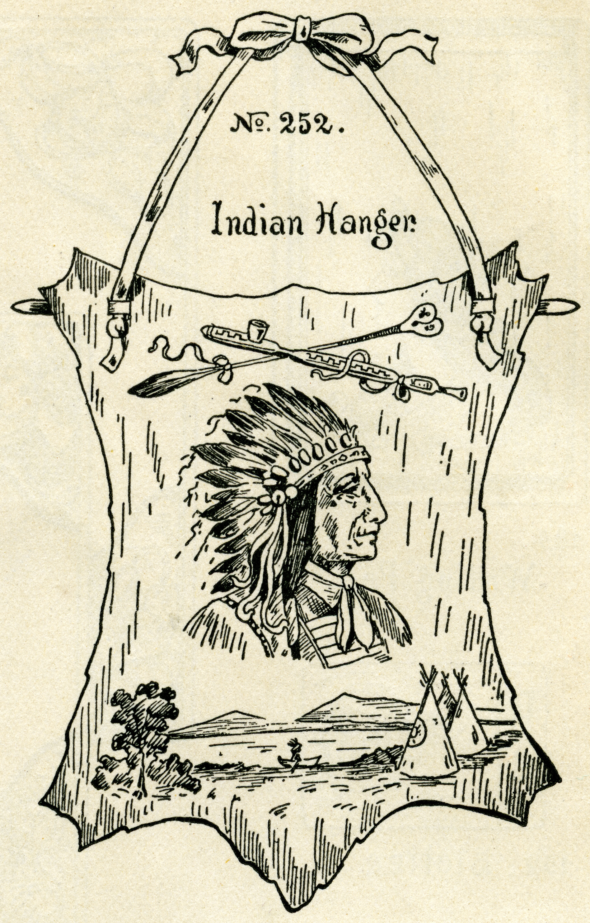 Vintage hanger clipart picture royalty free library Indian Chief ~ Free Vintage Clip Art - Old Design Shop Blog picture royalty free library
