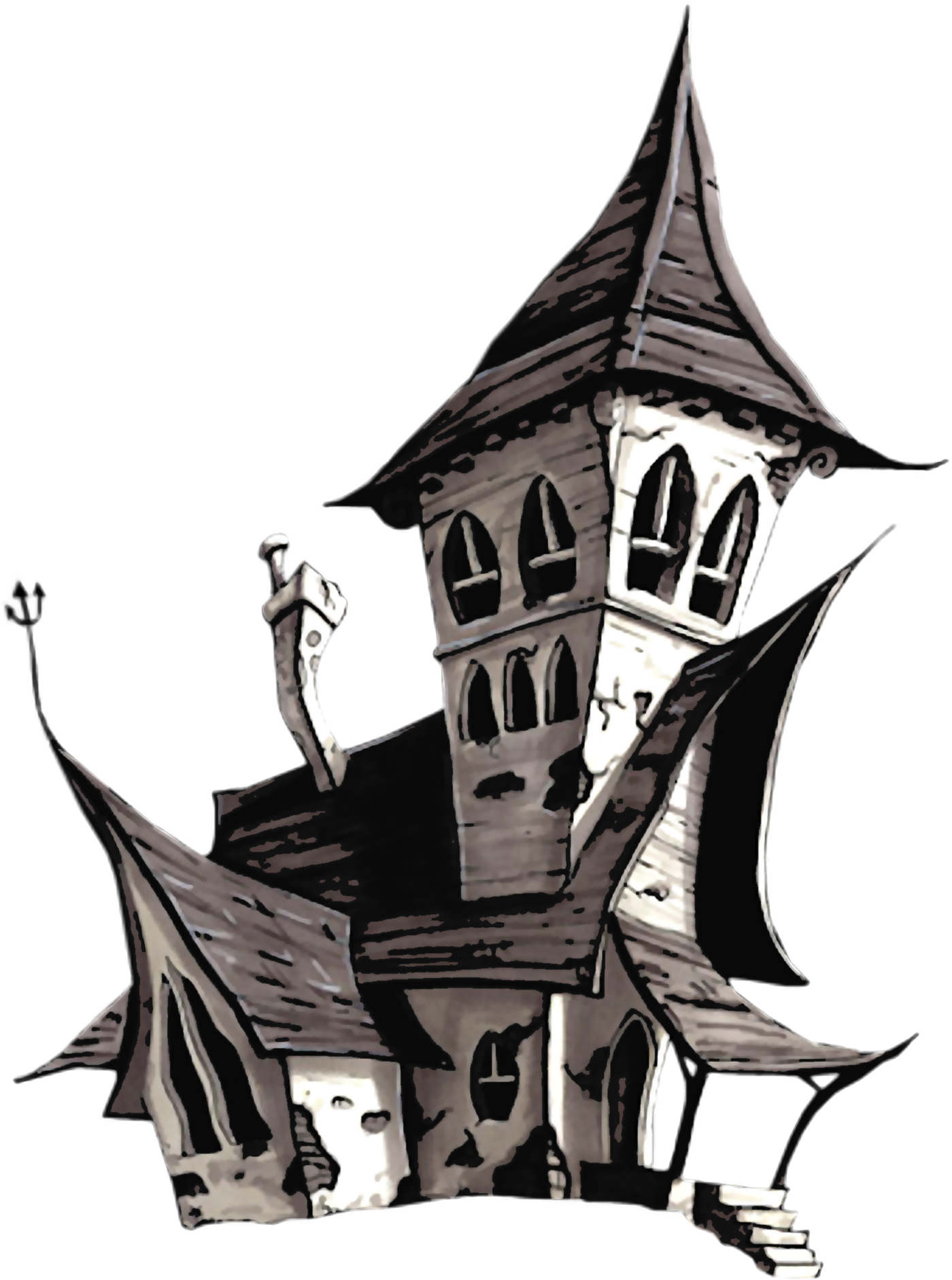 Vintage haunted house halloween clipart black and white clip library halloween png - Google Search | Halloween | Pinterest | Clip art clip library