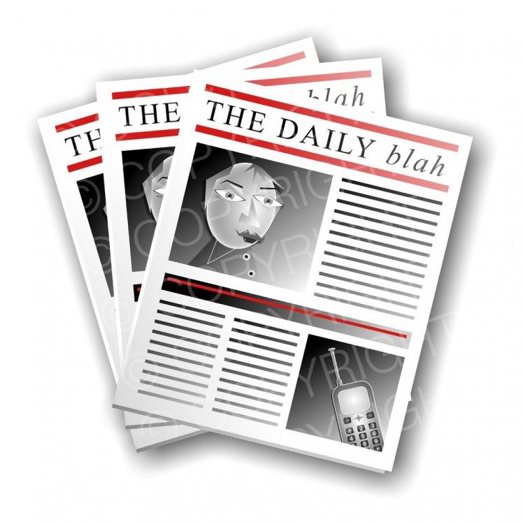 Vintage headline clipart jpg black and white download Newspaper Headlines Clipart Illustration – Prawny Clipart ... jpg black and white download