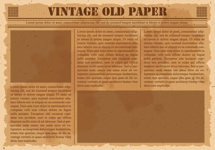 Vintage headline clipart banner freeuse Old Vintage Newspaper - Download Free Vectors, Clipart ... banner freeuse