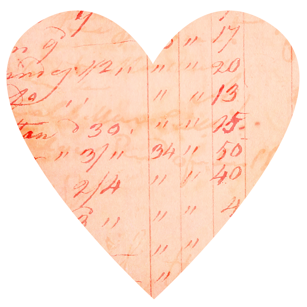 Vintage heart clipart png library library Vintage Ledger Paper Hearts | Call Me Victorian png library library