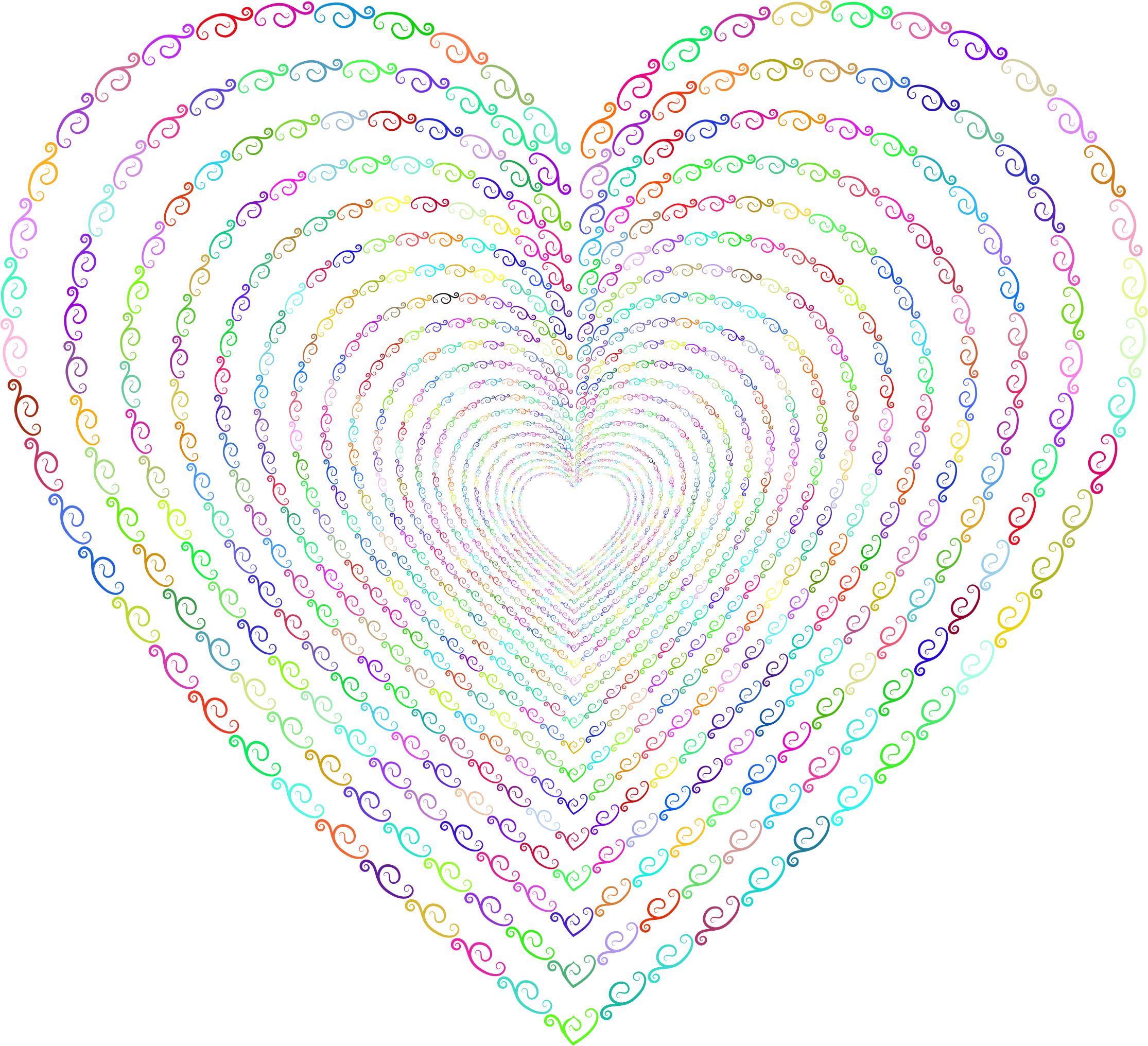 Vintage heart clipart picture library stock Clipart - Prismatic Vintage Flourish Heart Tunnel No Background picture library stock