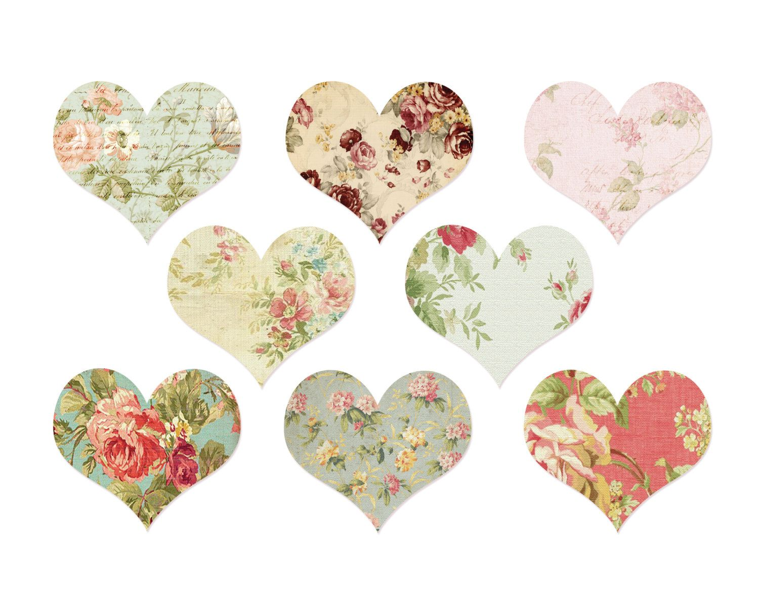 Vintage hearts clipart clip royalty free stock Clipart Digital Heart Clipart Clip Art By ... clip royalty free stock