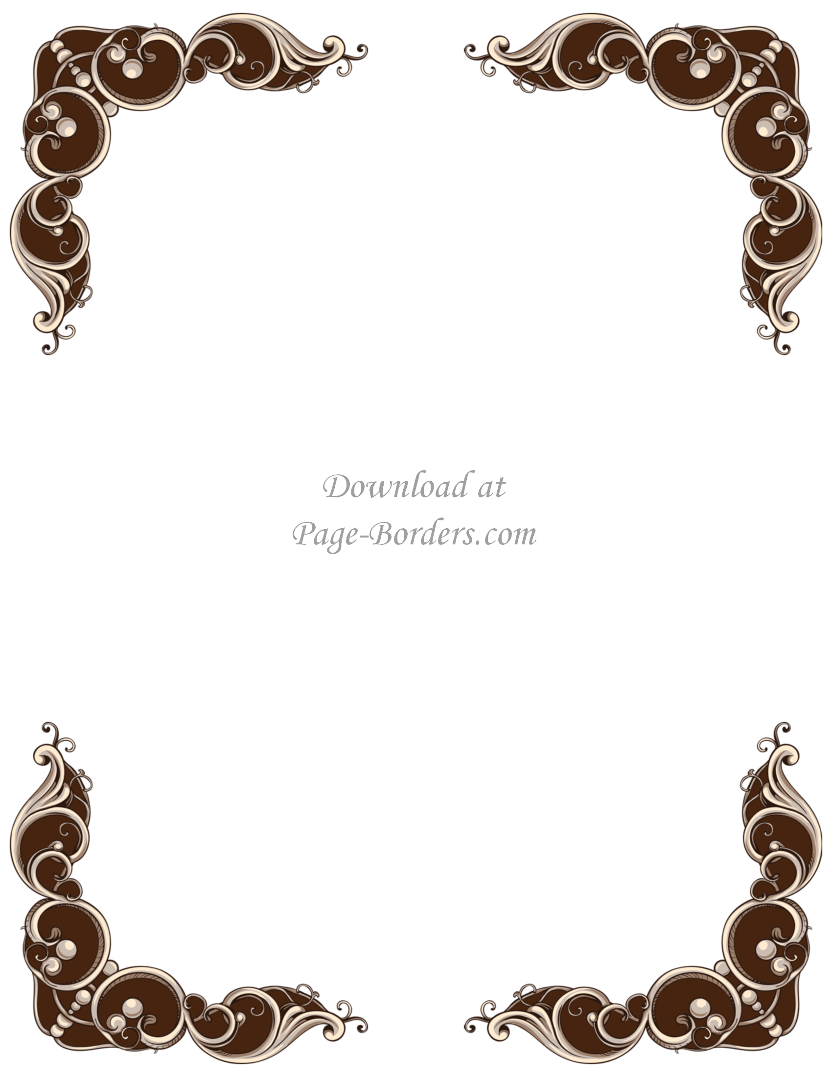 Vintage holiday border clipart graphic free stock Vintage Border | Free Instant Download | Personal ... graphic free stock