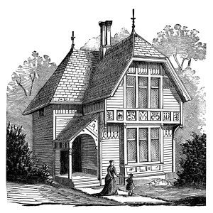 Vintage home clipart png transparent download antique house illustration, black and white clipart ... png transparent download