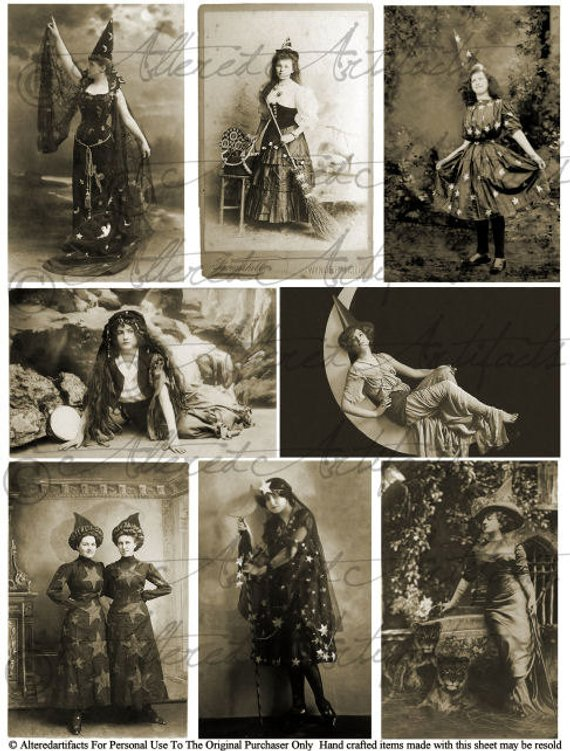 Vintage image sepia clipart clip freeuse library Printable Vintage Postcards Halloween Witching Hour Sepia ... clip freeuse library