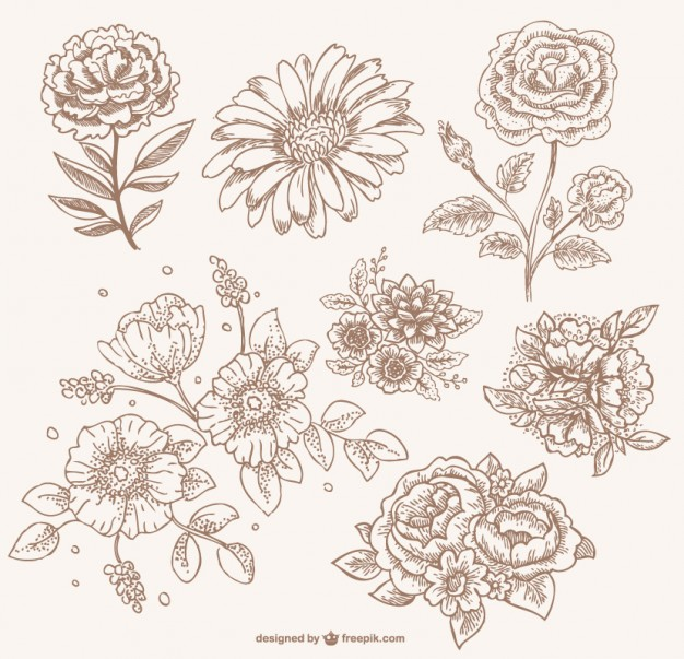 Vintage image sepia clipart picture royalty free Download flores vintage sepia clipart Drawing Line art ... picture royalty free