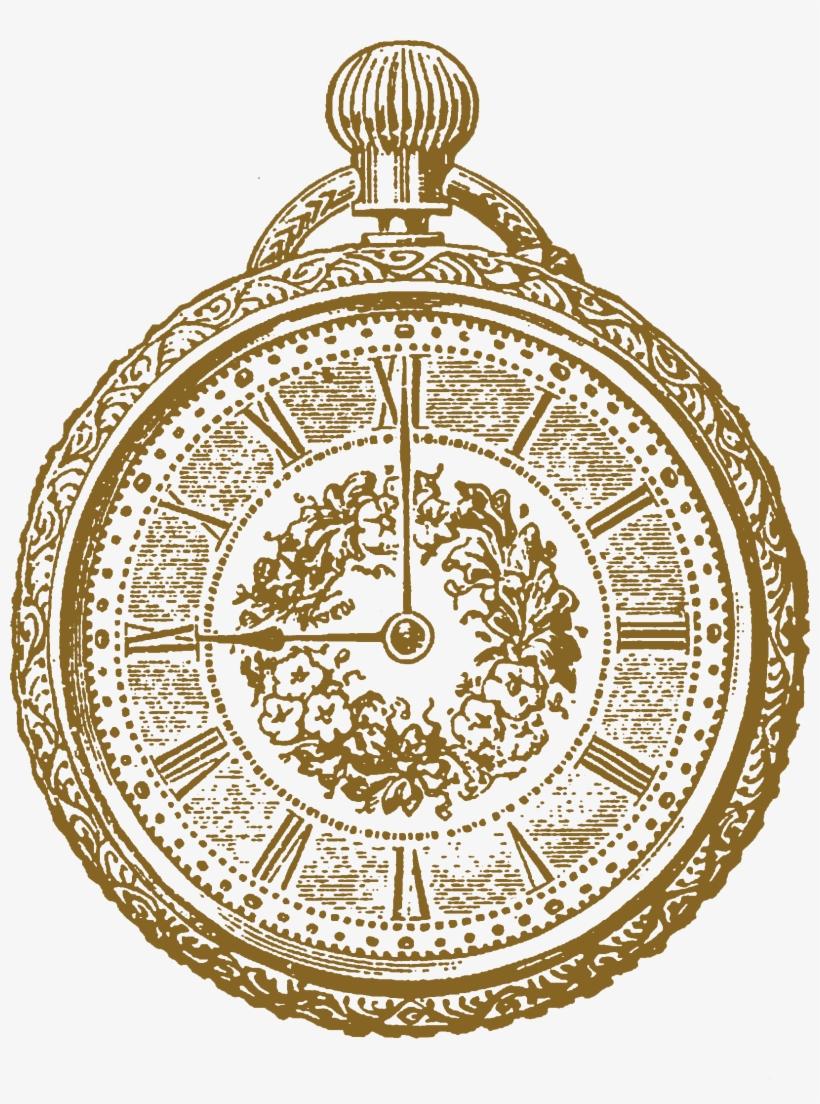 Vintage image sepia clipart jpg Old Ornate Clock Sepia Tone - Clock Vintage Clipart PNG ... jpg