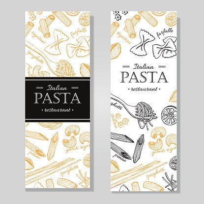 Vintage italian clipart transparent stock Vector Vintage Italian Pasta Restaurant Hand Drawn premium ... transparent stock