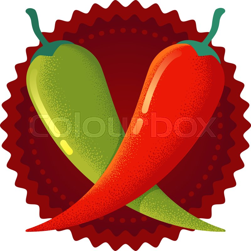 Vintage jalepeno clipart picture download Vector chilli peppers in retro style. ... | Stock vector ... picture download