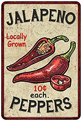 Vintage jalepeno clipart svg free download Amazon.com: Jalapeno Peppers Kitchen Vintage Look Chic 8 x ... svg free download