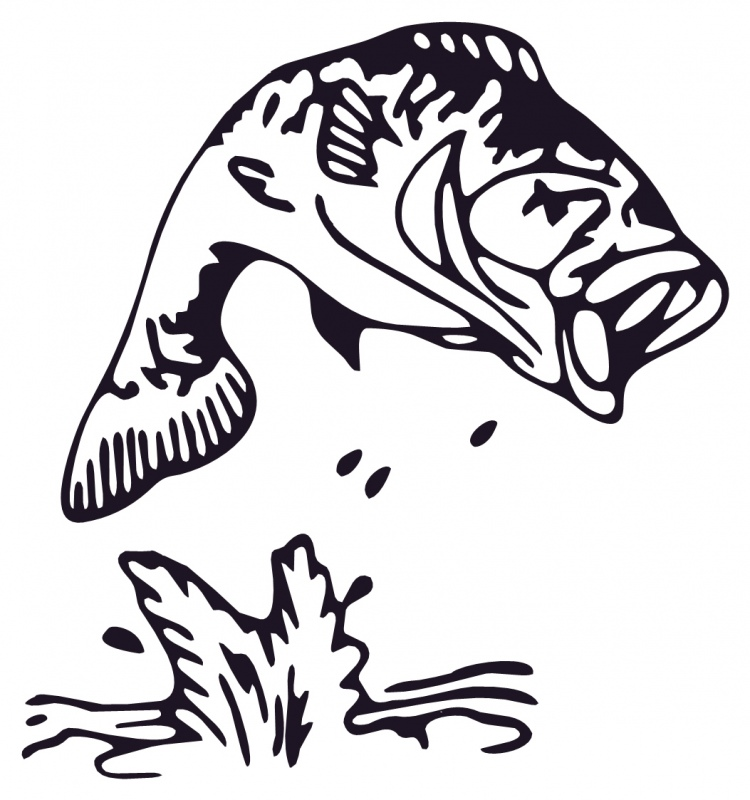 Vintage jumping bass clipart graphic black and white Free Bass Cliparts, Download Free Clip Art, Free Clip Art on ... graphic black and white