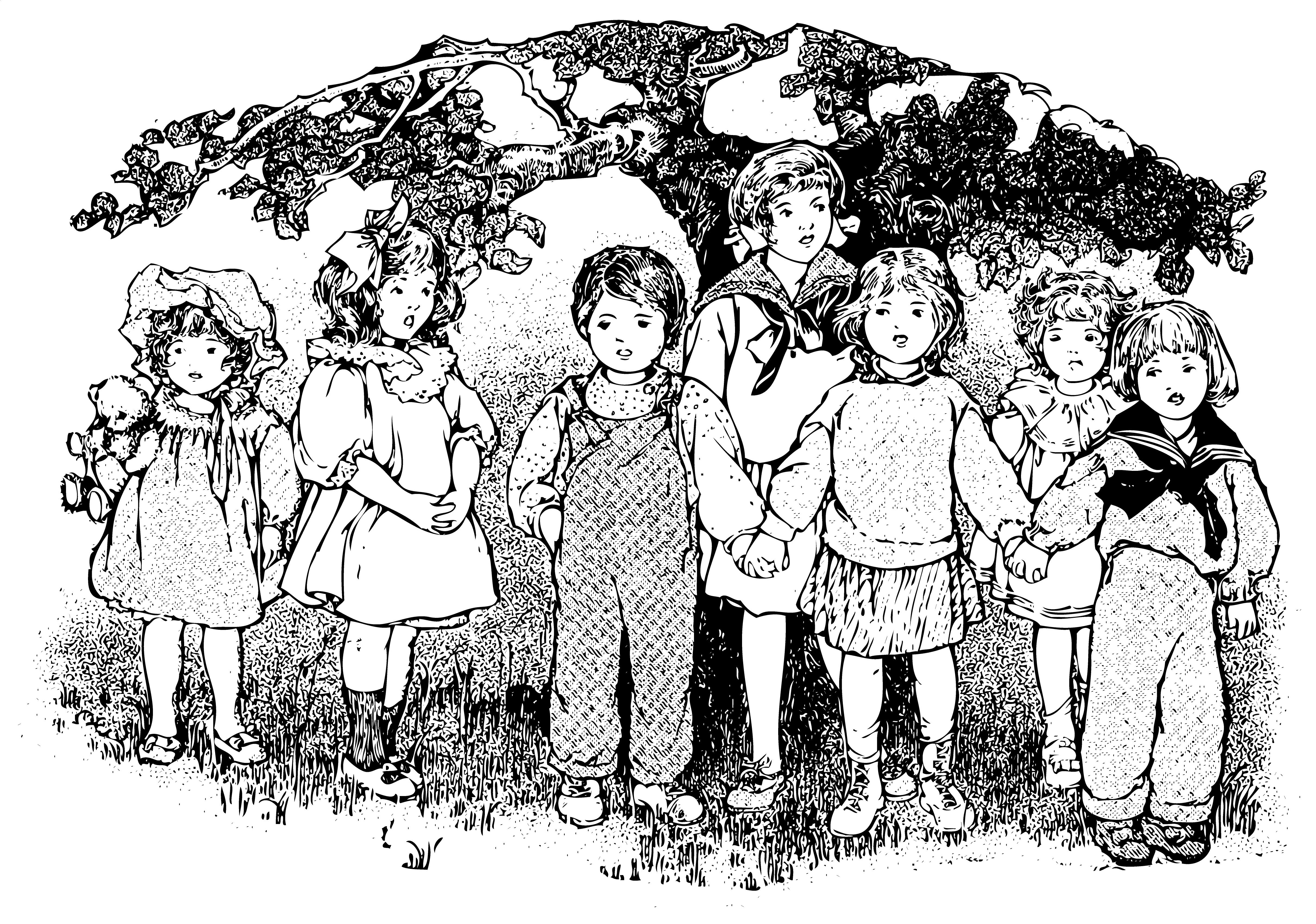 Vintage kids clipart picture transparent library Vintage Kids Clip Art From A Primer 1910 - Free Clip Art picture transparent library