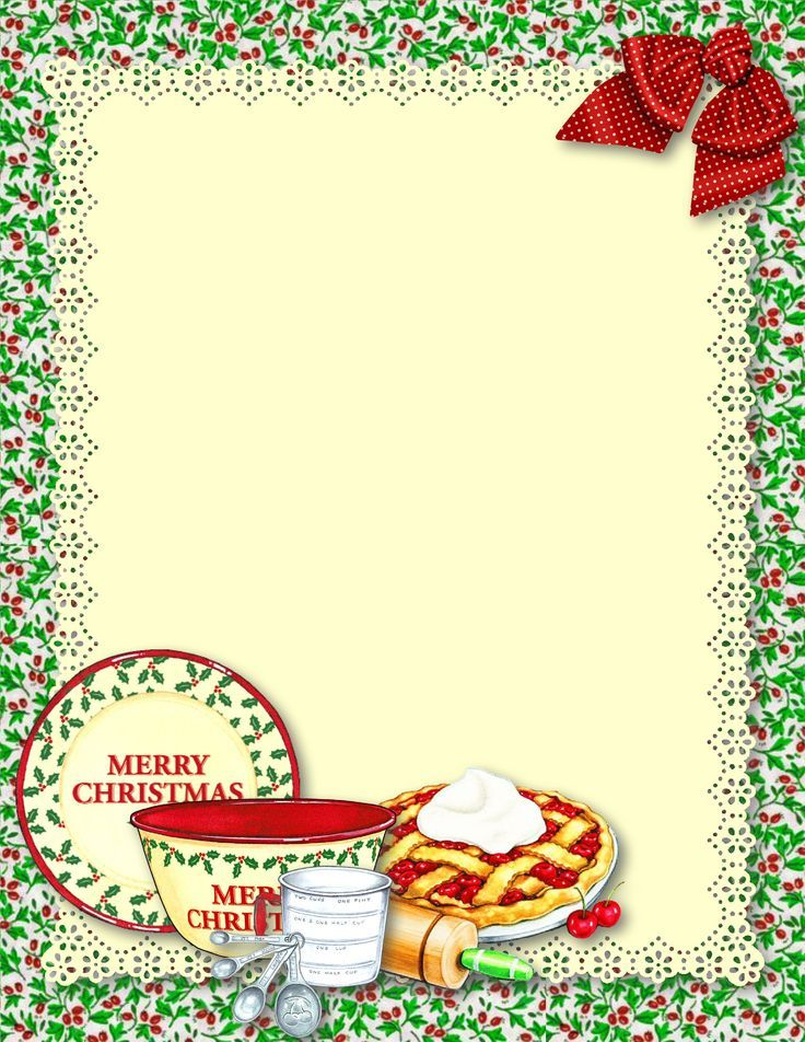 Recipe border clipart clip black and white library Recipe Paper on Pinterest | Journal Cards, Page Borders and ... clip black and white library