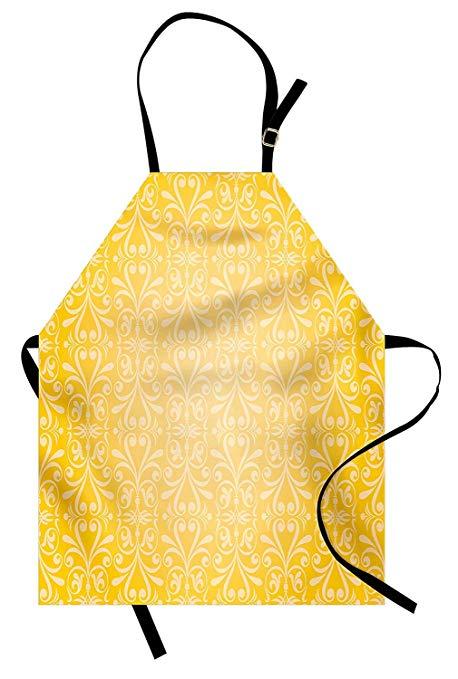 Vintage kitchen clipart yellow jpg black and white download Amazon.com: SODIKA Vintage Yellow Apron, Kitchen Bib Apron ... jpg black and white download