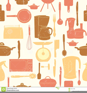 Vintage kitchen clipart yellow vector library download Retro Kitchen Clipart | Free Images at Clker.com - vector ... vector library download