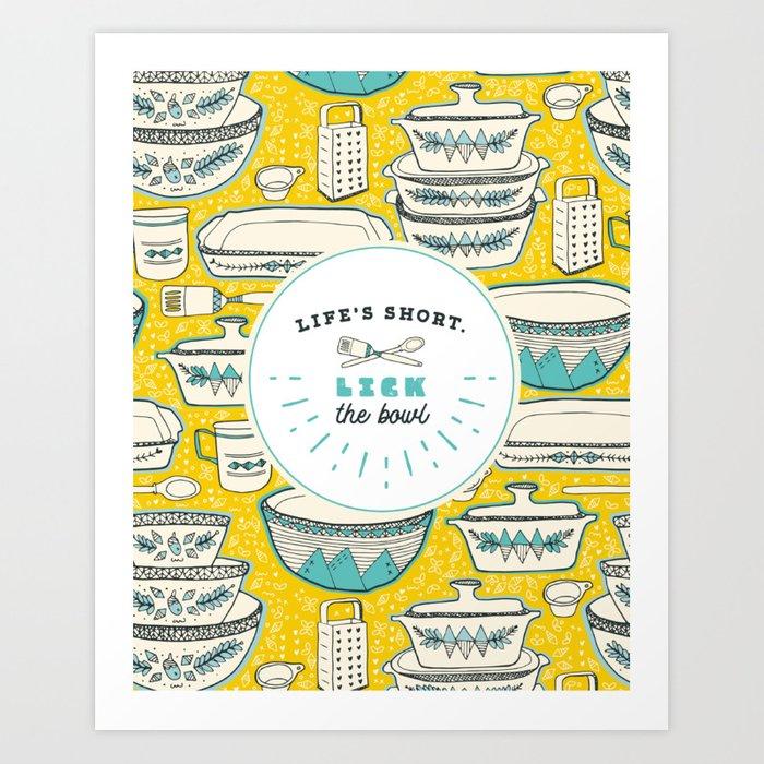 Vintage kitchen prints clipart svg free download Florence\'s Retro Vintage Kitchen Art Print by lexisworks svg free download