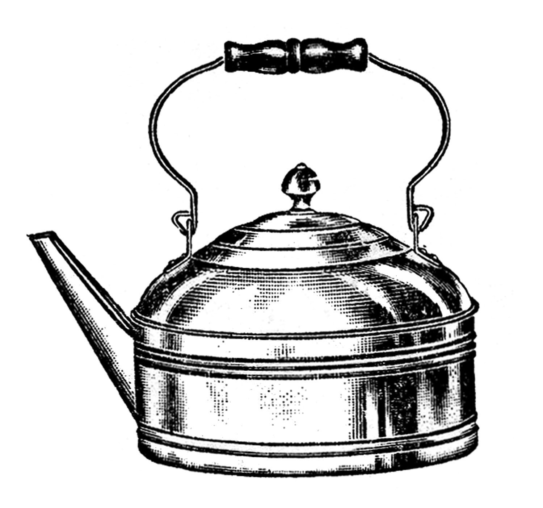 Vintage kitchen prints clipart vector free download Vintage Kitchen Clip Art - Tea Kettle and Coffee Pots ... vector free download