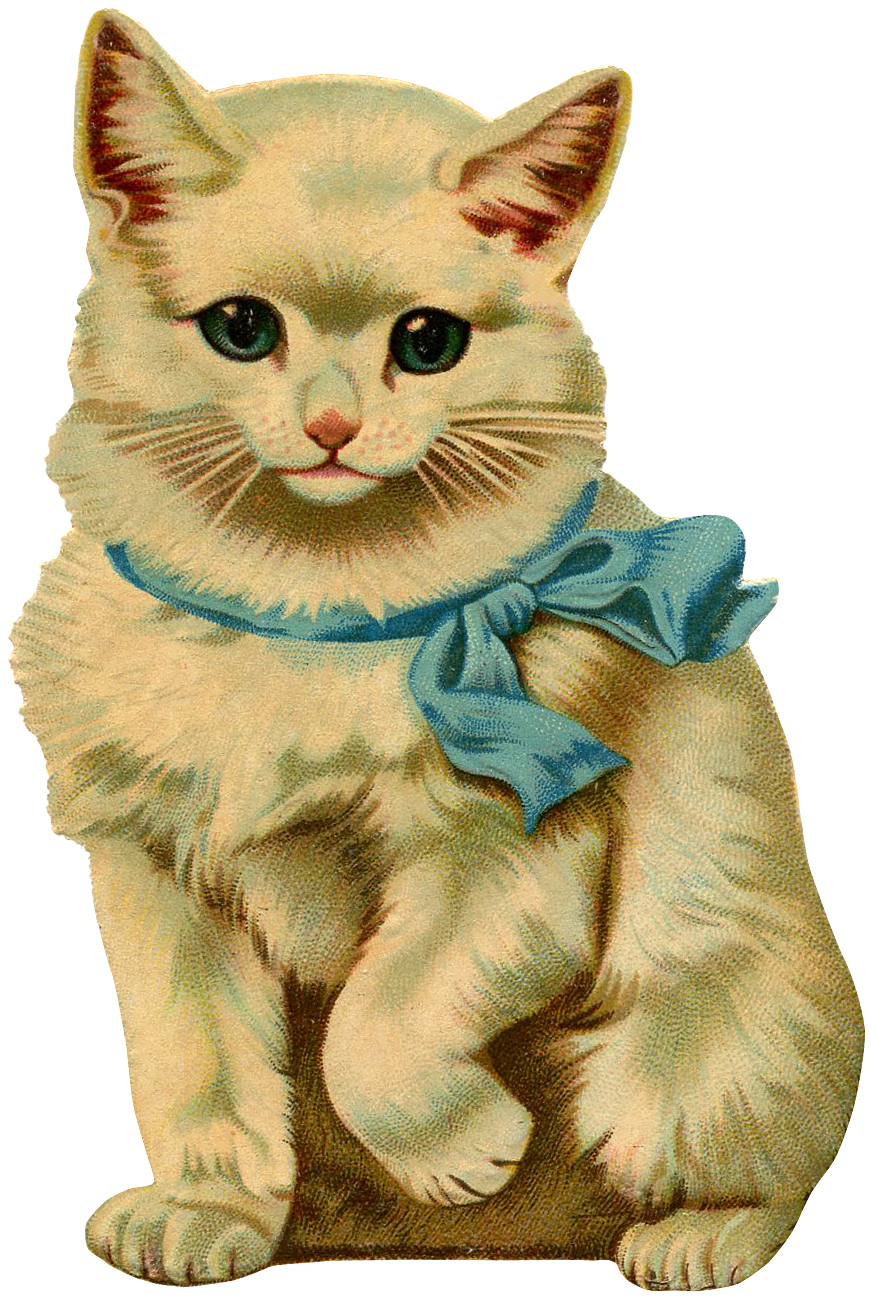 Vintage kitten clipart graphic royalty free stock 12 Beautiful Vintage Kitten and Cat Pictures! - The Graphics ... graphic royalty free stock