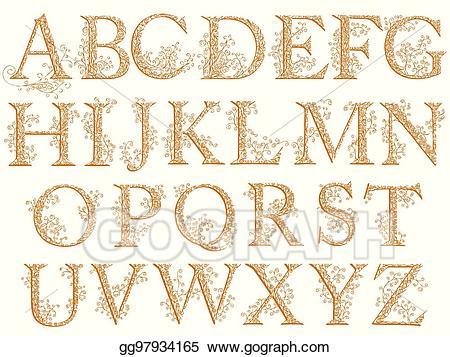 Vintage clipart alphabet banner transparent stock Vector Art - Vintage fishnet (floral) alphabet font. Clipart ... banner transparent stock