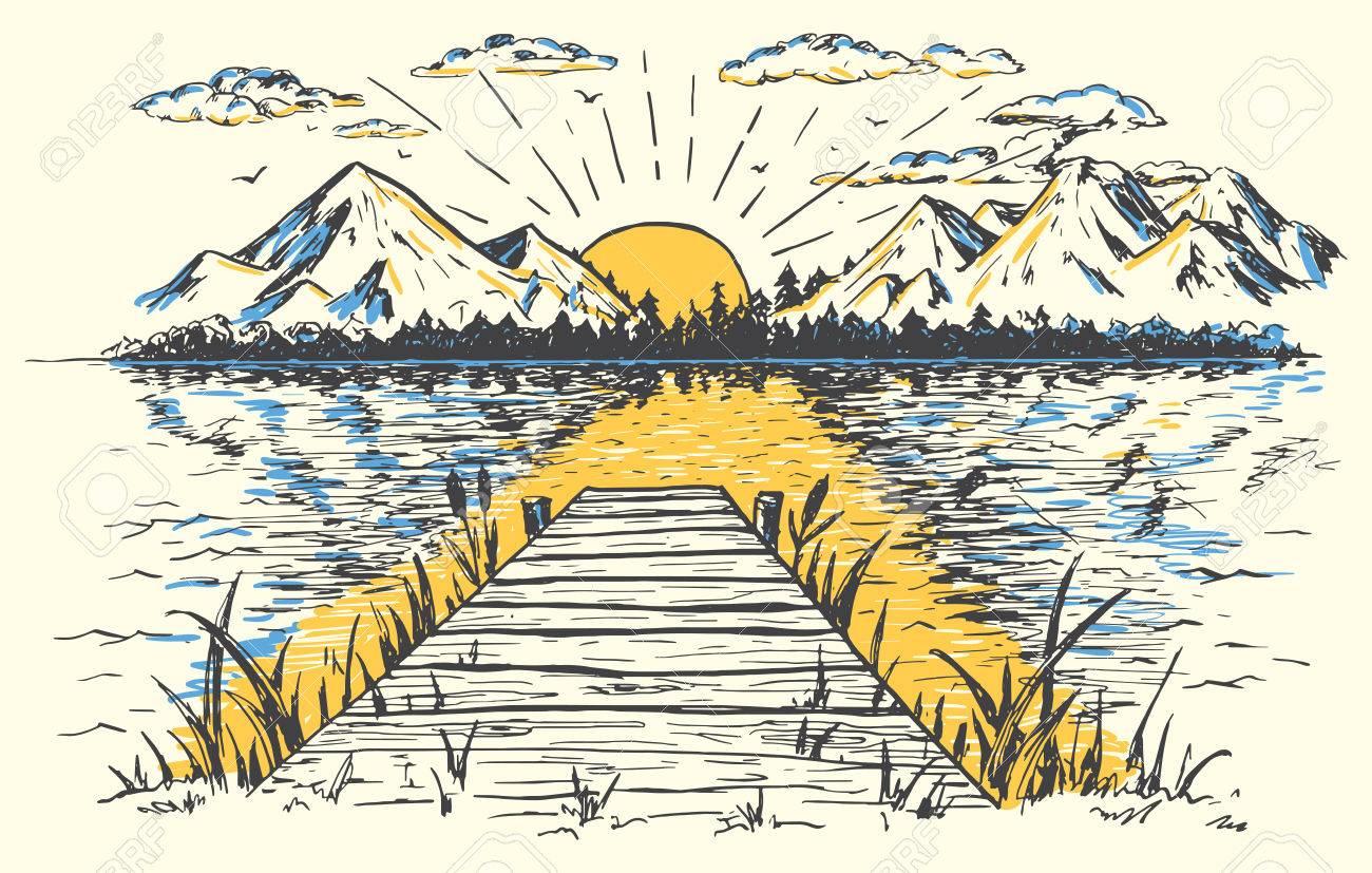 Vintage lake clipart clip art Vintage Lake Cliparts 4 - 1300 X 827 - Making-The-Web.com clip art