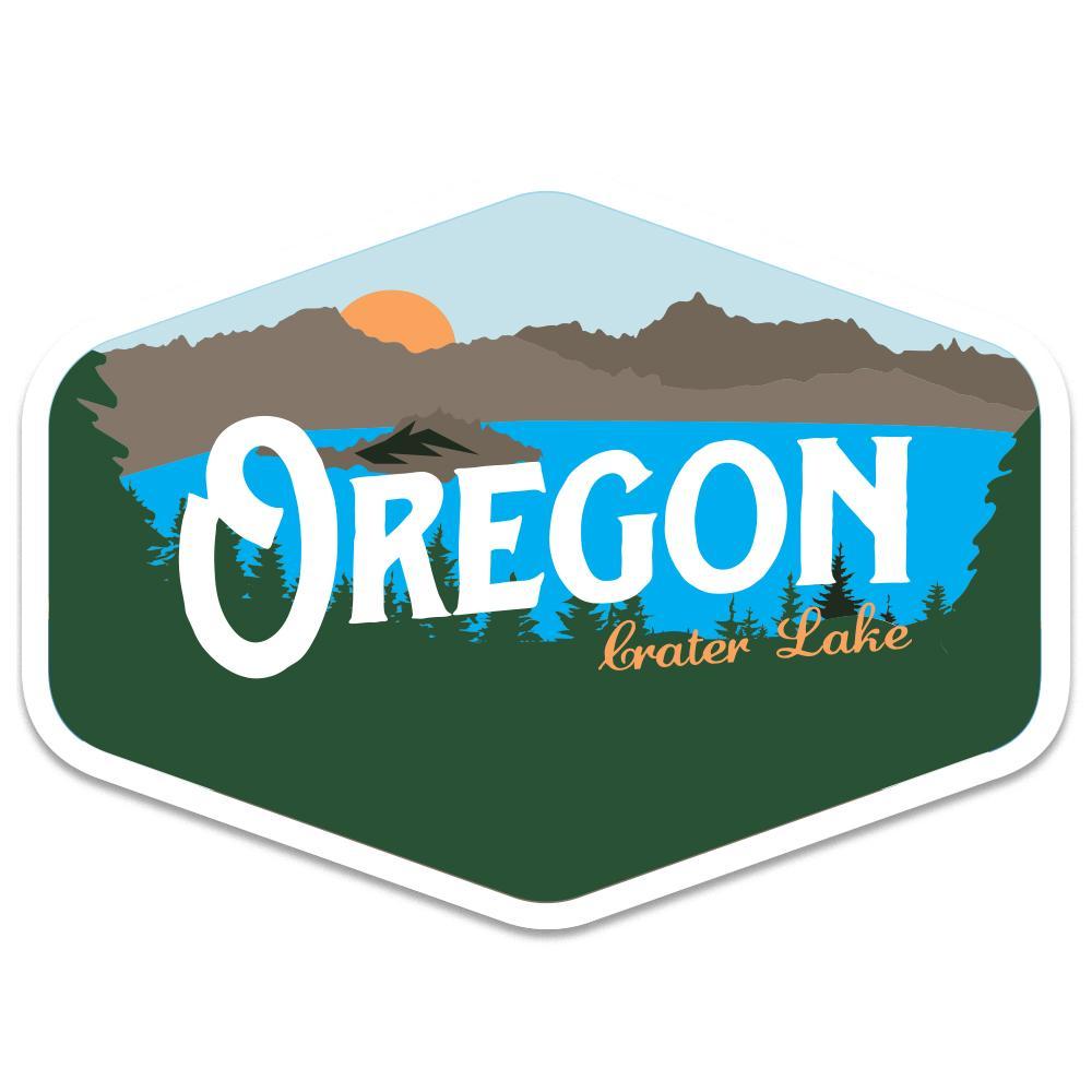 Vintage lake clipart clip black and white download Oregon Crater Lake Vintage   Sticker clip black and white download