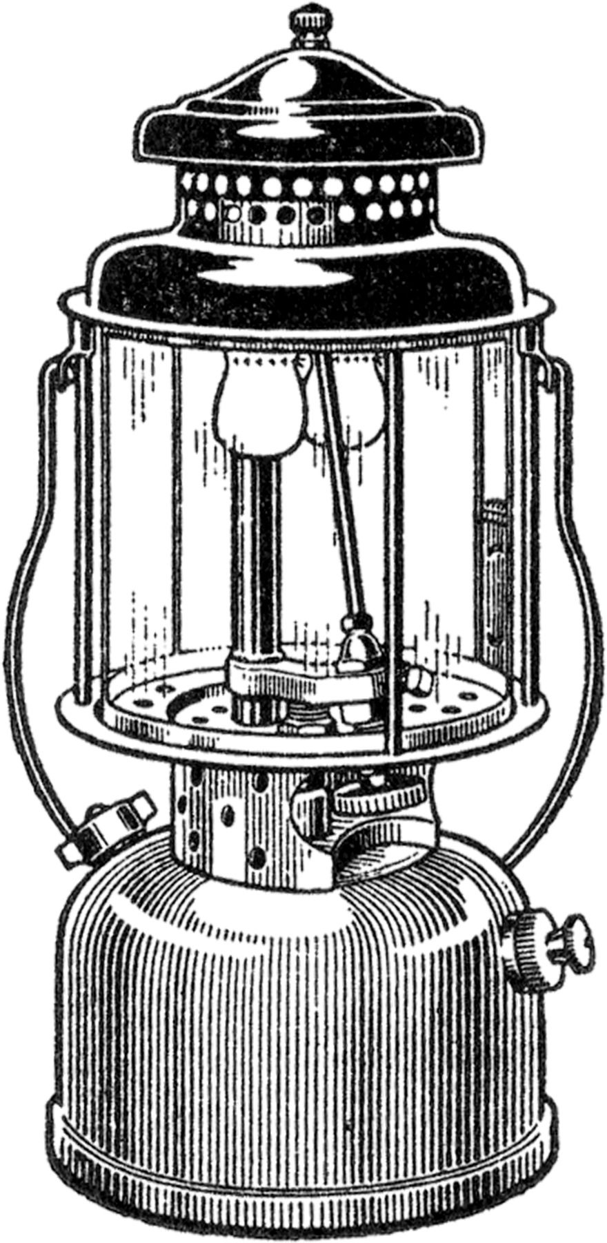 Vintage lantern free clipart