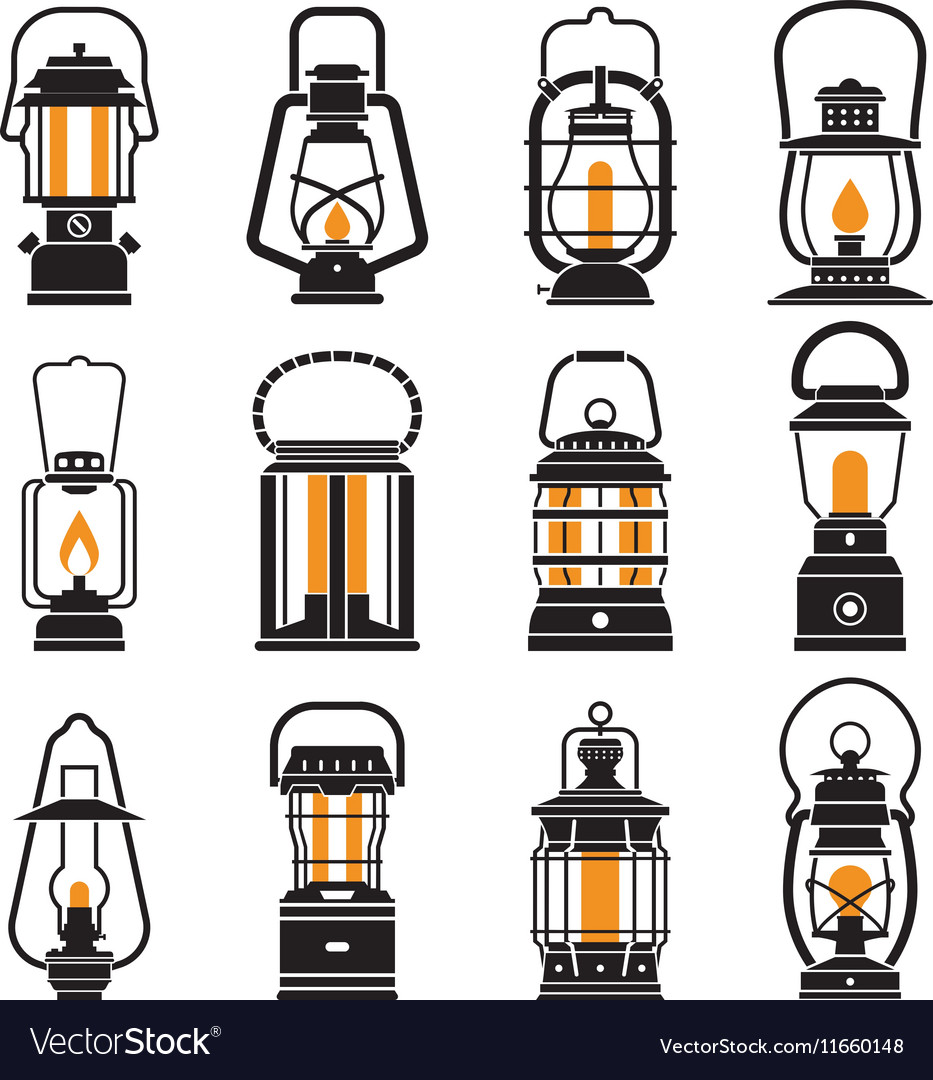 Vintage lantern free clipart picture stock Vintage Camping Lantern Labels picture stock